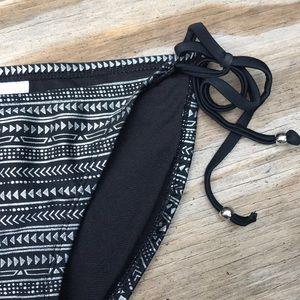Silver foil and black Aztec bikini bottoms